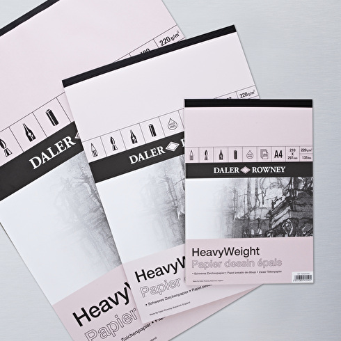 Daler Rowney Heavy Weight Cartridge Pad 220gsm 25 Sheets