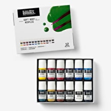 Liquitex Professional Soft Body Acrylic Essentials Set of 12 x 22ml
