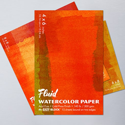 Fluid Watercolour Easy Block Cold Pressed 300gsm | Cass Art