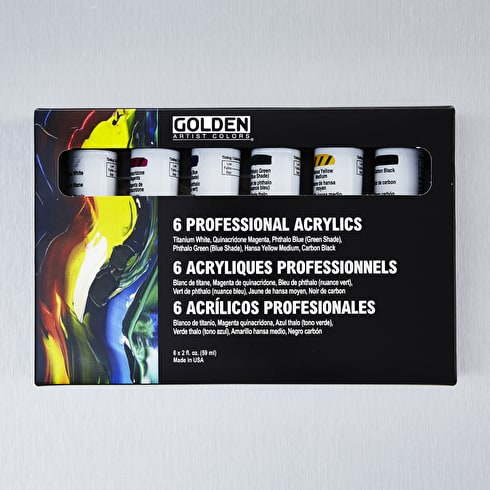 Golden HeavyBody Professional 60ml Set of 6 | Cass Art