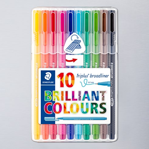 Staedtler Desktop Triplus Broadliner Set of 10
