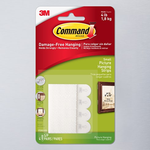 Command Picture Hanging Strips Small White Pack of 4 | Cass Art