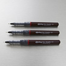 Rotring Tikky Graphic 0.1 to 0.5mm Set of 3 Black