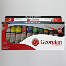 Daler Rowney Georgian Oil 38ml Set of 10 Including Brush