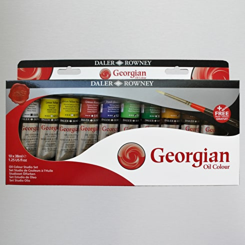 Daler Rowney Georgian Oil 38ml Set of 10 Including Brush | Cass Art