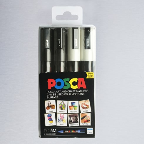 Posca Pigment Marker PC5M 1.8mm Set of 4 | Cass Art