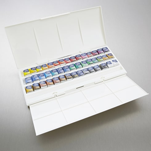 Winsor & Newton Cotman Watercolour Studio Set of 45 Half Pan | Watercolours | Cass Art