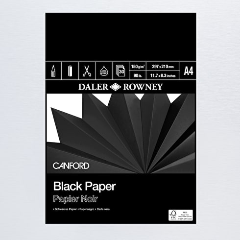 Daler Rowney Canford Black Paper Pad | Cass Art