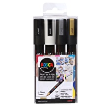 Posca Paint Marker PC-5M 1.8-2.5mm Mono Tones Set of 4