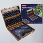 Derwent Inktense Pencils Wooden Box Assorted Colours Set of 48