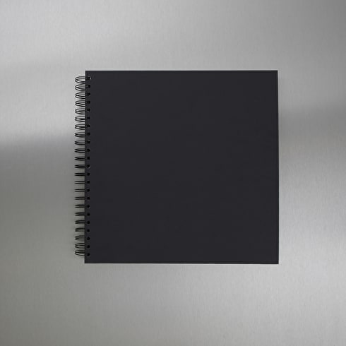 Seawhite Square Display Book 220gsm 40 Sheets 300 x 300mm (Black Card)