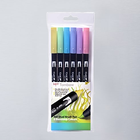 Tombow Dual Brush Pens Pastel Set of 6 | Cass Art