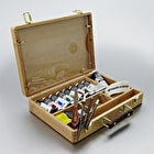 Winsor & Newton Artists' Acrylic Colour Bamboo Wooden box