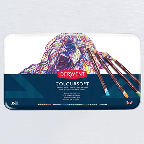Derwent Coloursoft Tin Set of 36