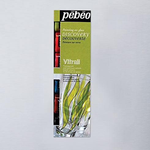 Pebeo Vitrail Glass Paint Discovery Pack of 6 20ml | Cass Art