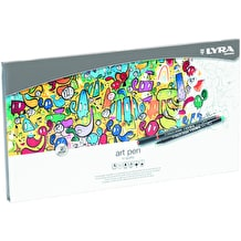 Lyra Art Pen Fibre Tip Pen Metal Tin Set of 30