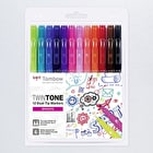 Tombow Twintone Dual Tip Marker Bright Set of 12