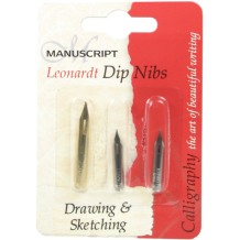 Leonardt Drawing & Sketching Dip Pen Nib Set of 3