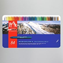 Caran D'ache Neocolor II Watersoluble Wax Pastels Tin of 84
