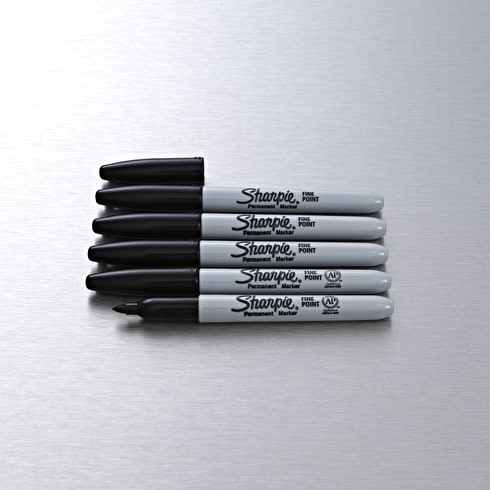 Sharpie Fine Permanent Marker Black Set of 5