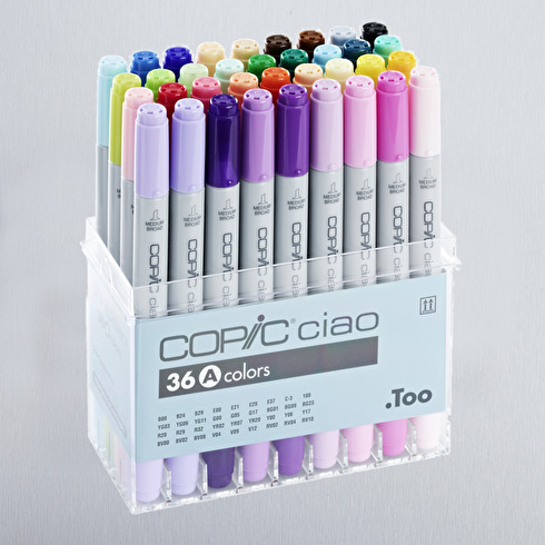 Copic Ciao Set A Assorted Colours Set of 36