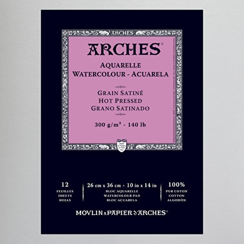 Arches Aquarelle Glued Watercolour Pad 300gsm | Arches Watercolour Paper | Cass Art