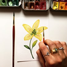 Introduction to Watercolour: Painting Flowers at Cass Art Brighton, Thursday 28th March, 6-8pm