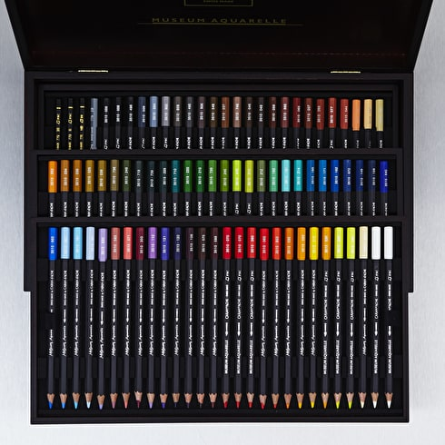 Caran D'ache Museum Aquarelle Watersoluble Colour Pencils Assorted Colours Set of 76