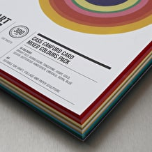 Cass Art Canford Card 300gsm 100 Sheets A4 Assorted Colours