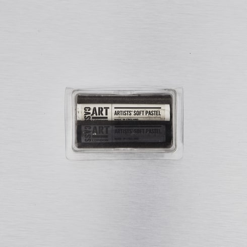 Cass Art Soft Pastels Full Black and White Set of 2 | Cass Art