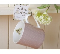 Katie Alice Cottage Flower Can Mug Pink Spots
