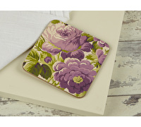 Everyday Home Purple Floral Pack Of 4 Coasters