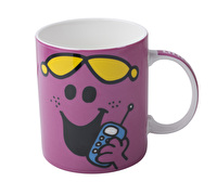 Mr Men Little Miss Chatterbox Can Mug Pink