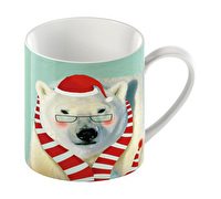 Everyday Home Christmas Polar Bear Can Mug