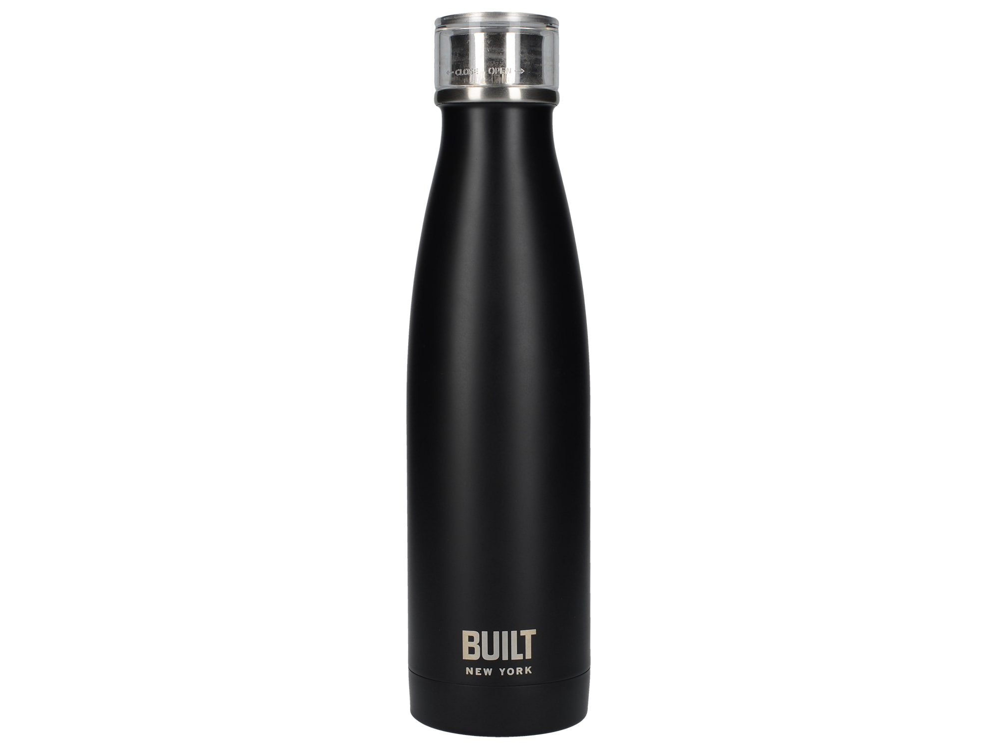 Built 17Oz Double Walled Stainless Steel Water Bottle Black