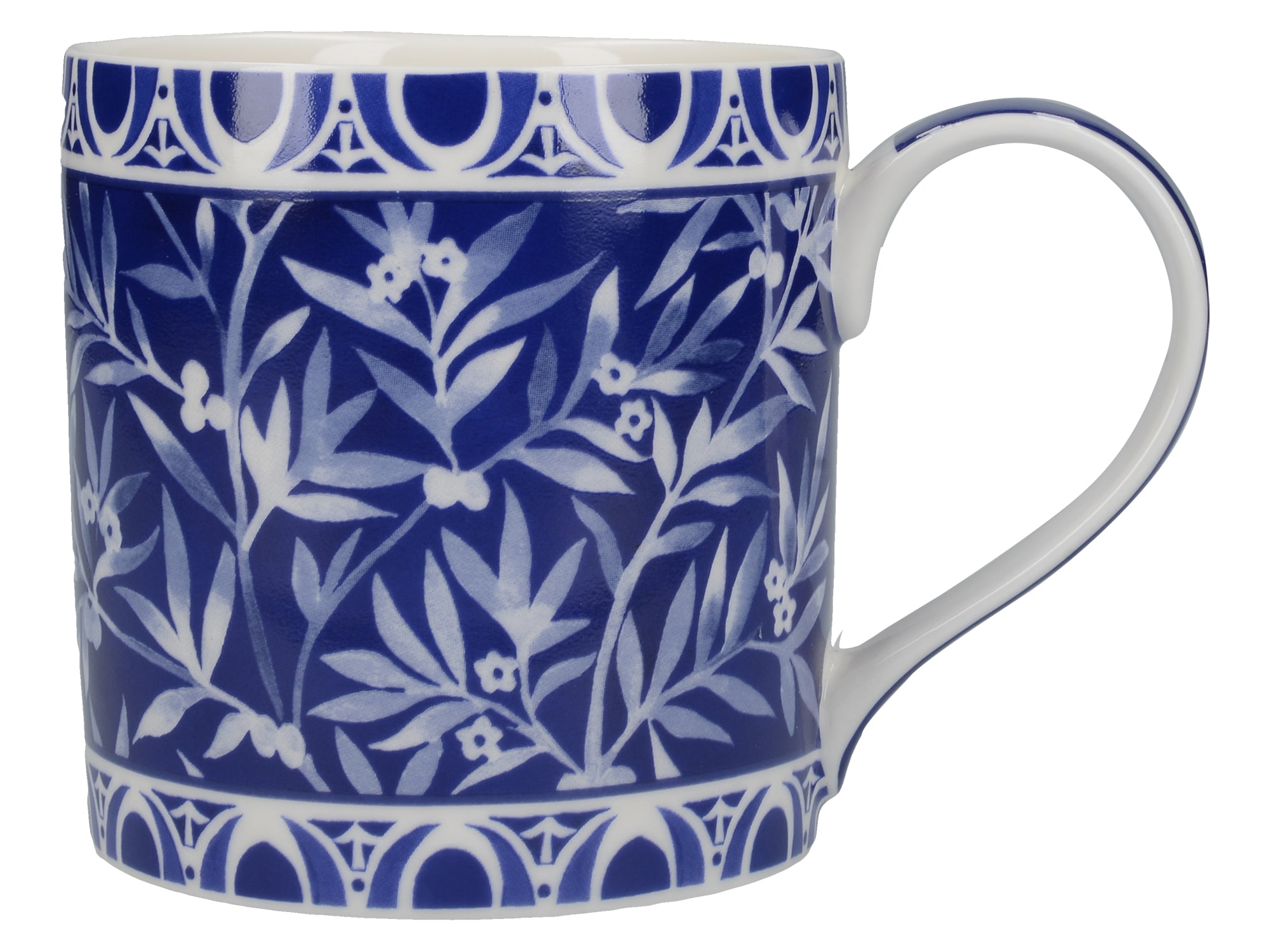 Victoria And Albert The Cole Collection Floral Geo Navy Mug