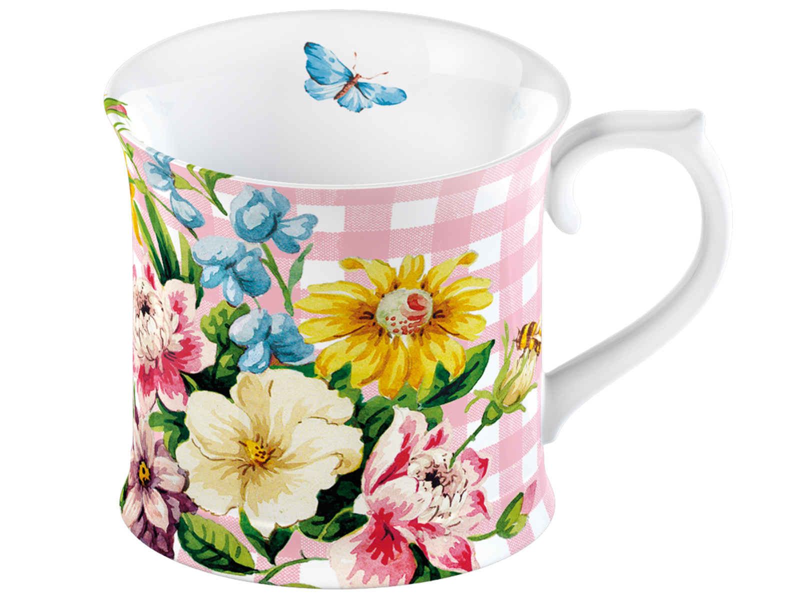 Katie Alice English Garden Tankard Mug Pink