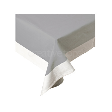 Mikasa M By Mikasa Tablecloth Grey And White