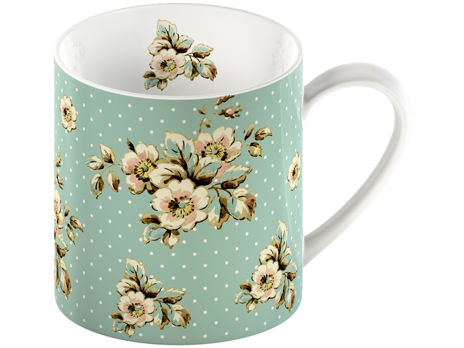Katie Alice Cottage Flower Can Mug Green