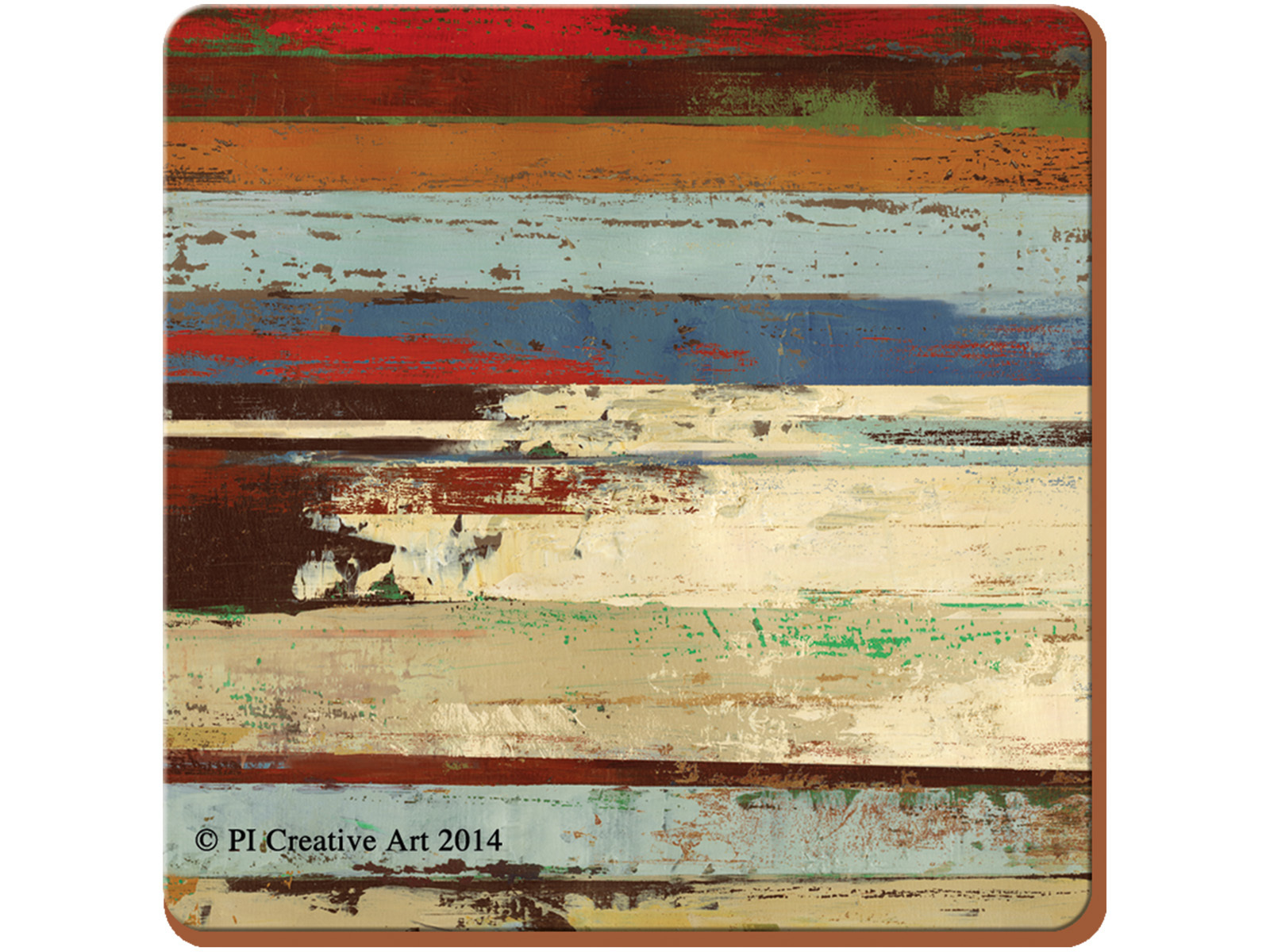 Creative Tops Rustic Abstract Pack Of 4 Premium Square Placemats