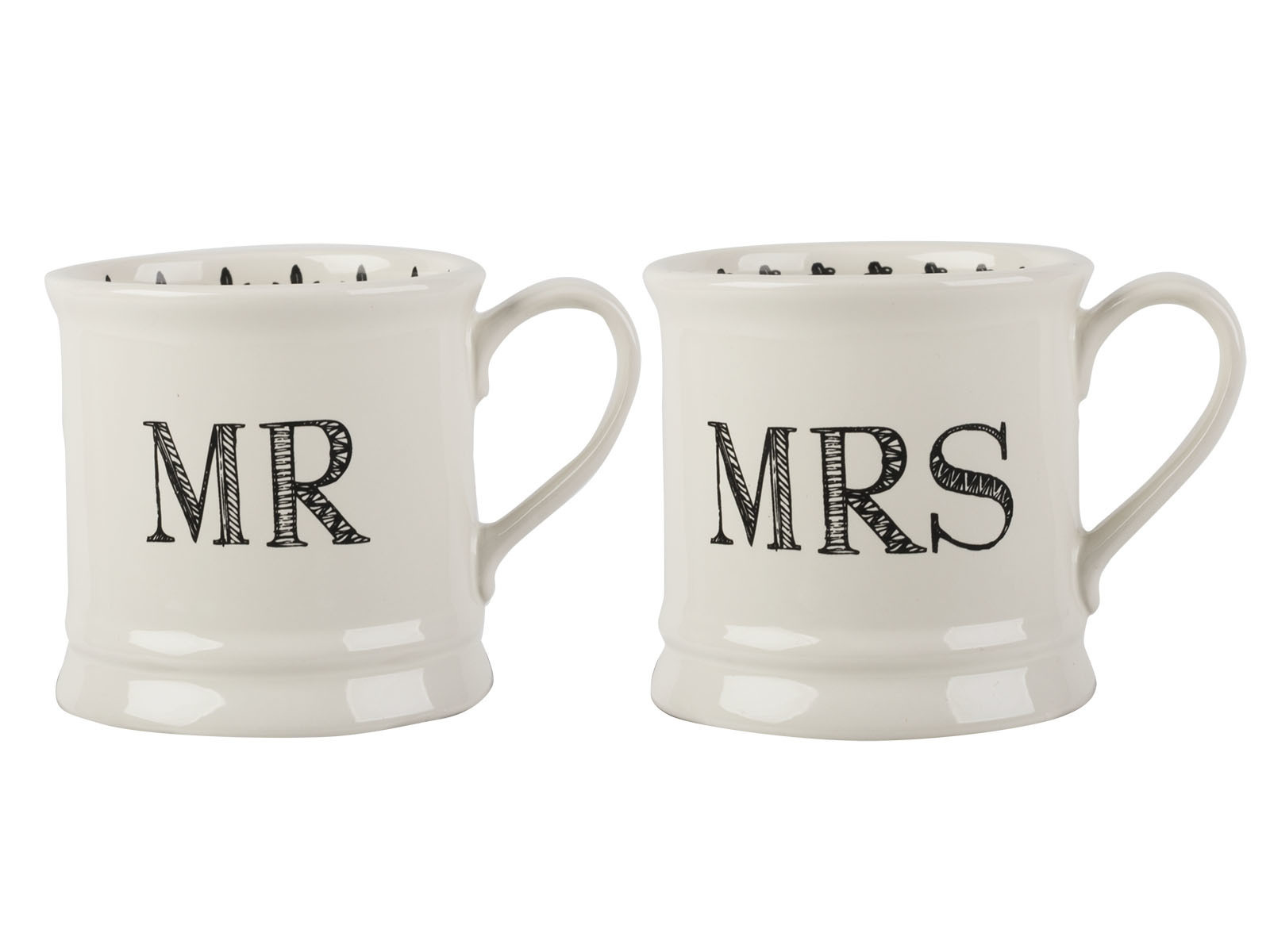 Creative Tops Mr And Mrs Set Of 2 Tankard Mugs