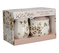 Katie Alice Cottage Flower Sugar Bowl And Creamer