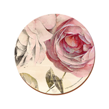 Creative Tops Antique Rose Pack Of 4 Round Premium Coasters