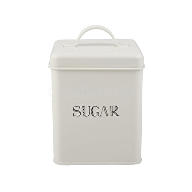 Creative Tops Stir It Up Sugar Storage Tin White