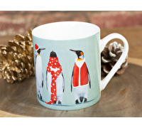 Everyday Home Christmas Penguins Can Mug