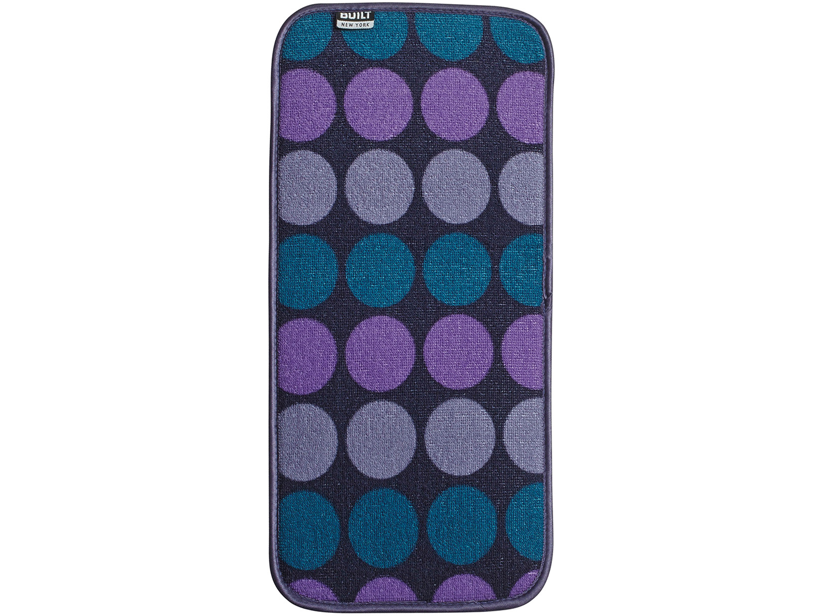 Built Reversible Bar Drying Mat 8x18in Plum Dot
