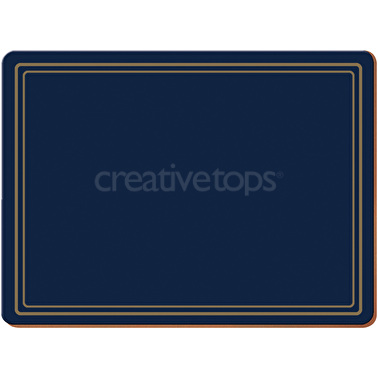 Creative Tops Classic Pack Of 6 Premium Placemats Navy
