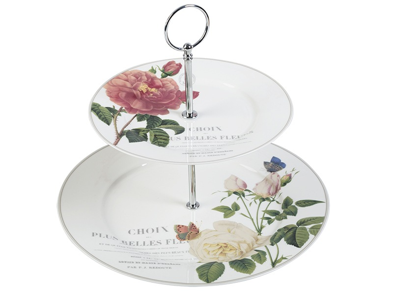 Kew Gardens Queen Charlottes Memoirs 2 Tier Cake Stand