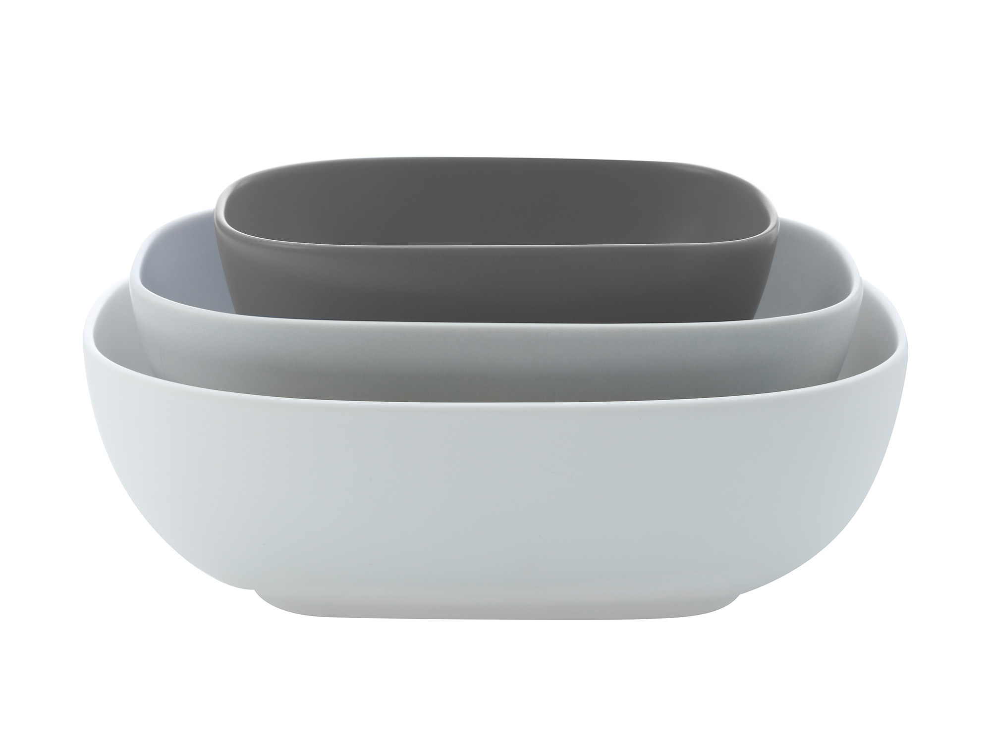 Maxwell & Williams Elemental Set Of 3 Rectangle Bowls Gift Boxed