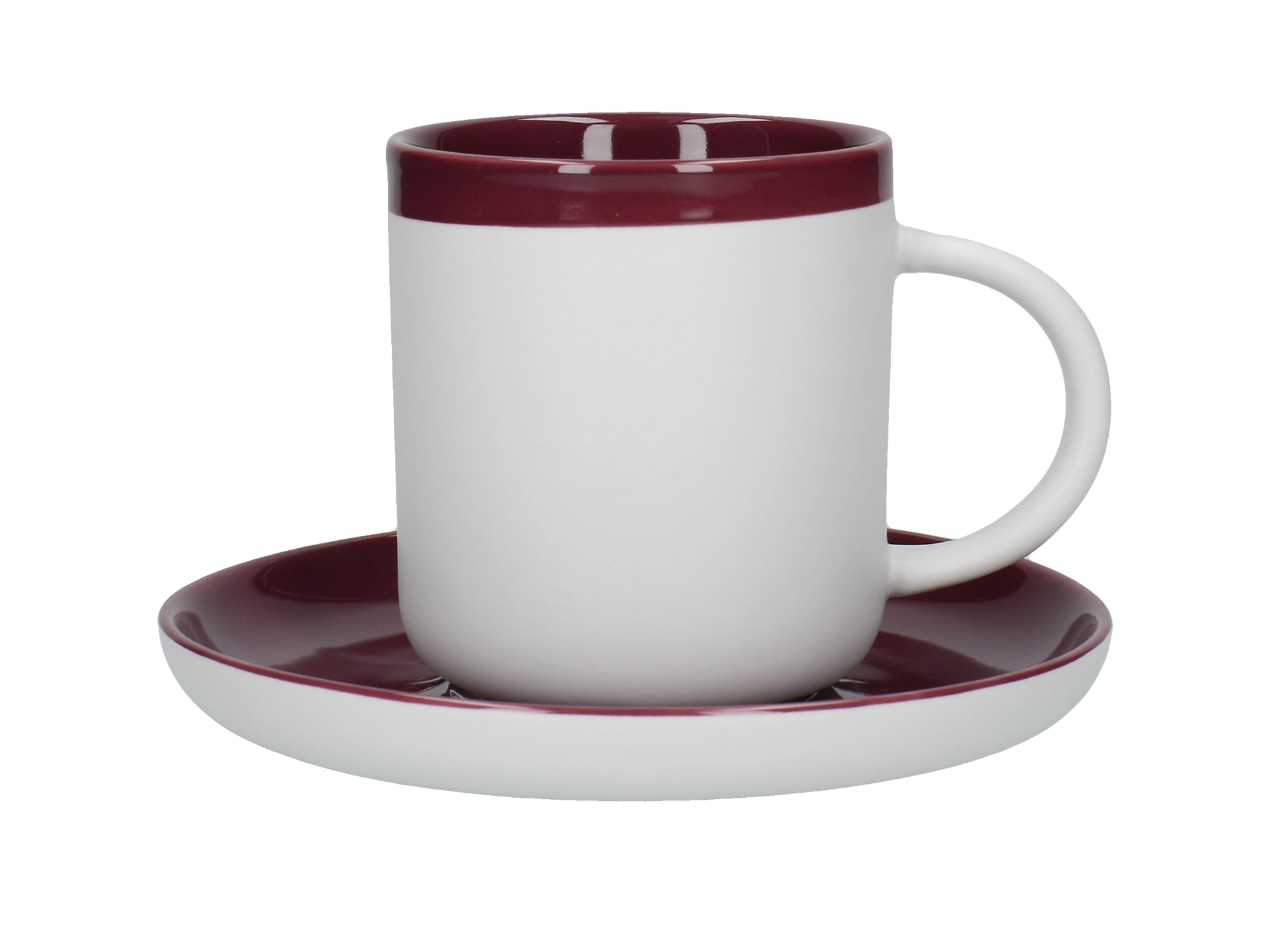 La Cafetiere Barcelona 300ml Coffee Cup And Saucer Plum